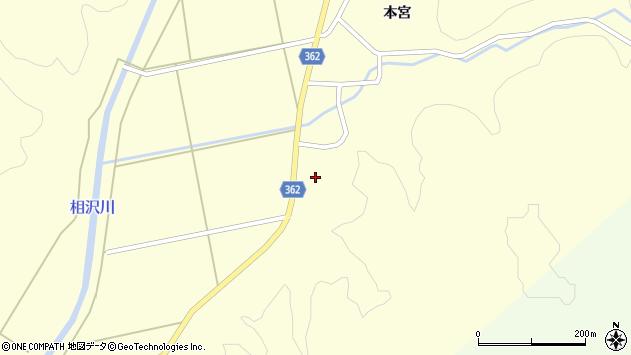 山形県酒田市北俣上野山周辺の地図