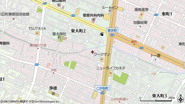 山形県酒田市大町5周辺の地図