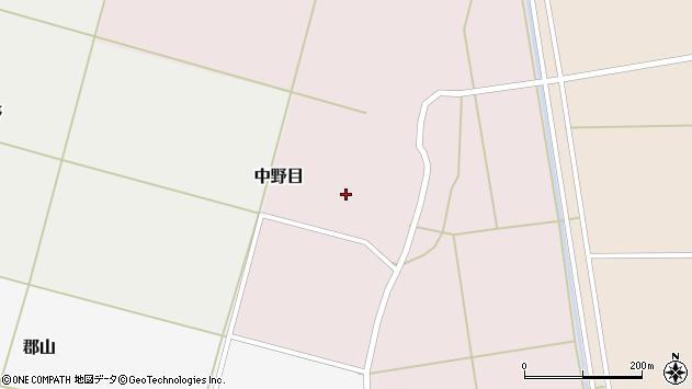 山形県酒田市中野目62周辺の地図