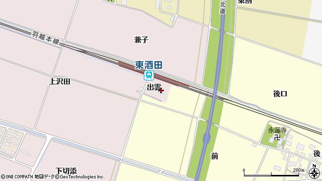 山形県酒田市大町出雲36周辺の地図