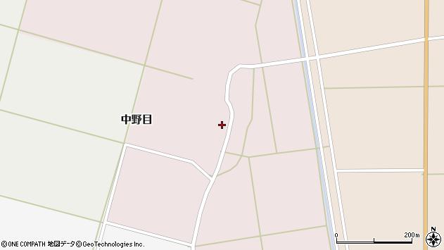 山形県酒田市中野目58周辺の地図