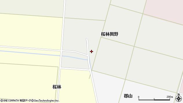 山形県酒田市桜林興野周辺の地図