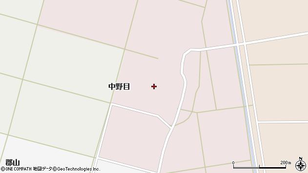 山形県酒田市中野目割前63周辺の地図