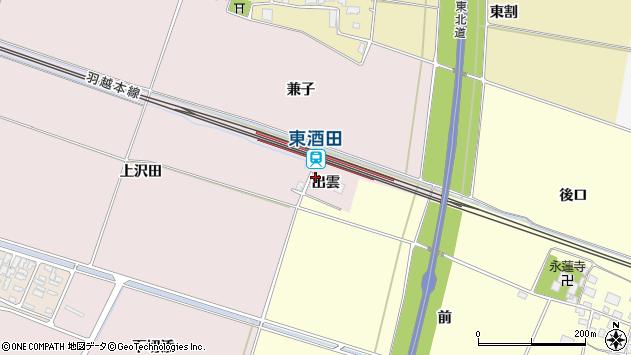 山形県酒田市大町出雲32周辺の地図