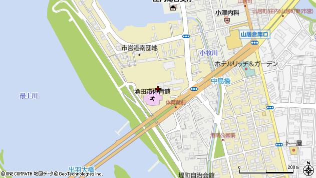 山形県酒田市入船町3周辺の地図