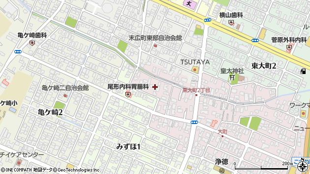 山形県酒田市大町12周辺の地図