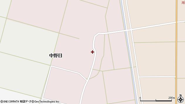 山形県酒田市中野目68周辺の地図