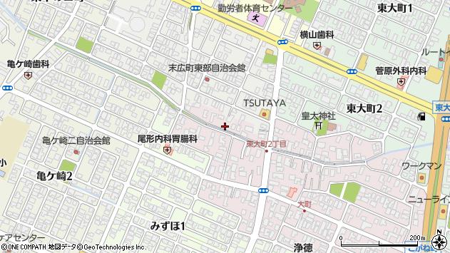 山形県酒田市大町1周辺の地図