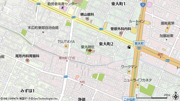 山形県酒田市大町3周辺の地図