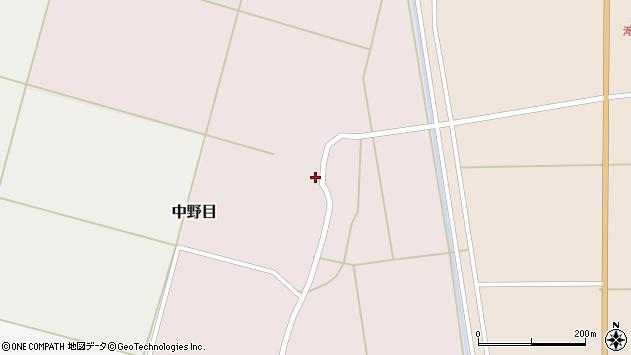 山形県酒田市中野目73周辺の地図