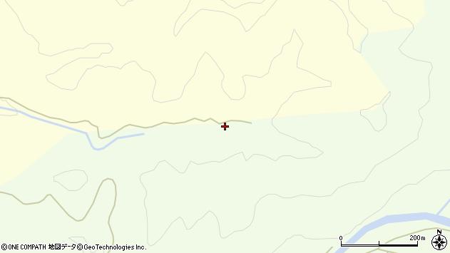 山形県酒田市北俣越後沢周辺の地図