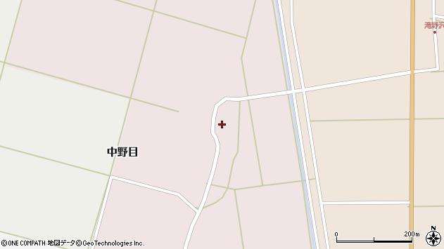 山形県酒田市中野目71周辺の地図