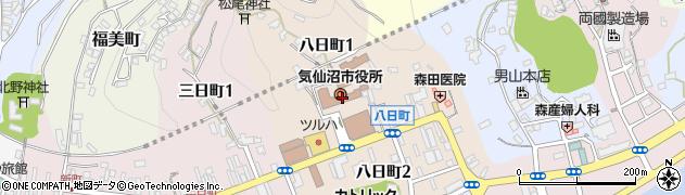 宮城県気仙沼市周辺の地図