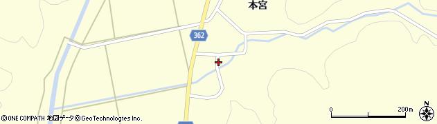 山形県酒田市北俣本宮43周辺の地図