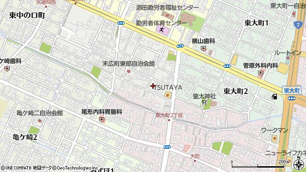 山形県酒田市末広町20周辺の地図
