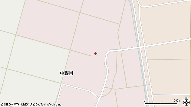 山形県酒田市中野目77周辺の地図