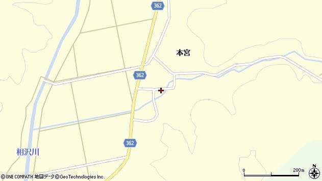 山形県酒田市北俣本宮45周辺の地図