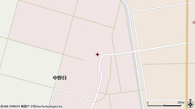 山形県酒田市中野目周辺の地図