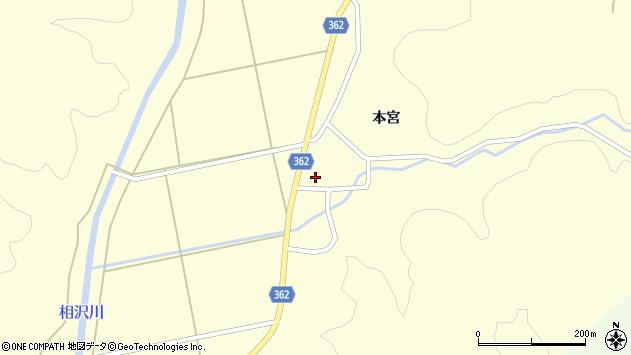 山形県酒田市北俣本宮36周辺の地図