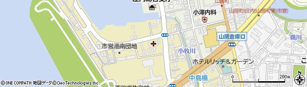 山形県酒田市入船町周辺の地図