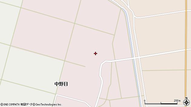 山形県酒田市中野目85周辺の地図