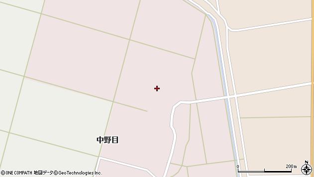 山形県酒田市中野目84周辺の地図