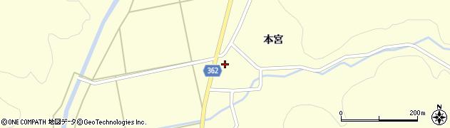 山形県酒田市北俣本宮34周辺の地図