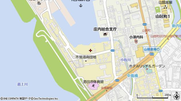 山形県酒田市入船町6周辺の地図