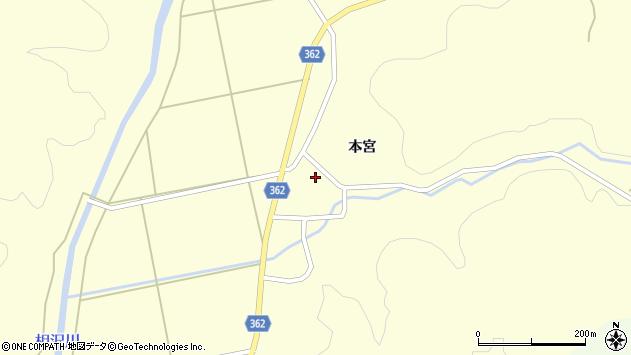 山形県酒田市北俣本宮32周辺の地図