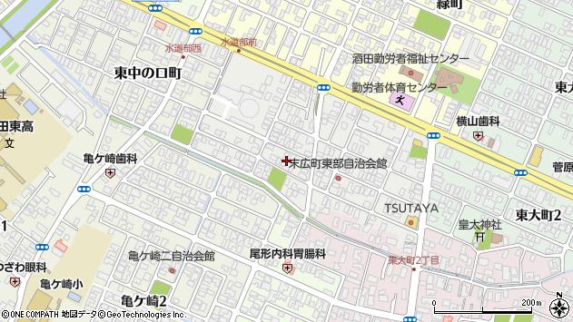 山形県酒田市末広町18周辺の地図