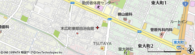山形県酒田市末広町9周辺の地図
