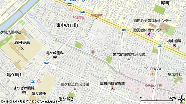 山形県酒田市末広町16周辺の地図