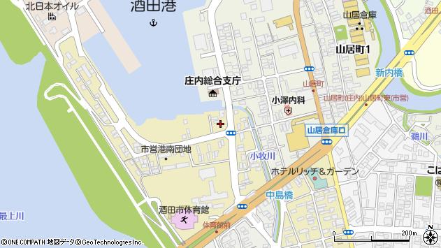 山形県酒田市入船町5周辺の地図