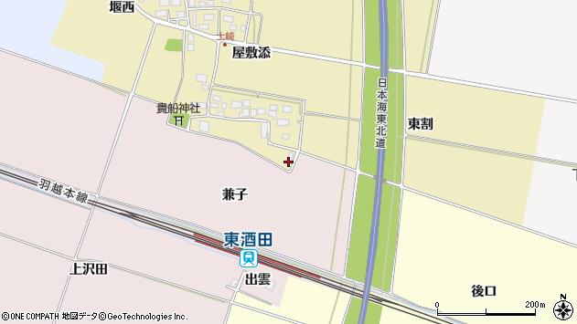 山形県酒田市土崎屋敷添268周辺の地図