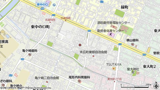 山形県酒田市末広町13周辺の地図