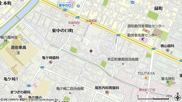 山形県酒田市末広町15周辺の地図