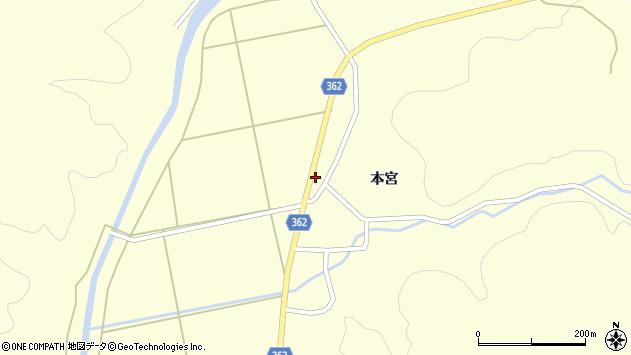 山形県酒田市北俣落シ下4周辺の地図