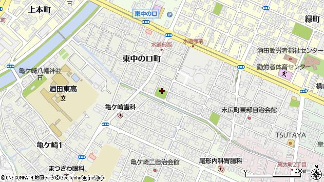 山形県酒田市東中の口町19周辺の地図