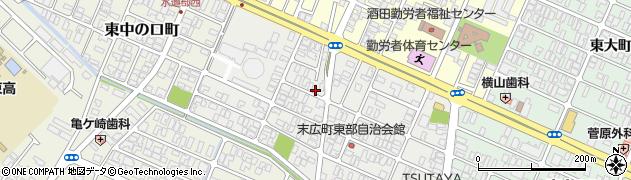 山形県酒田市末広町4周辺の地図
