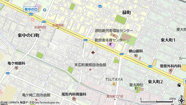山形県酒田市末広町6周辺の地図