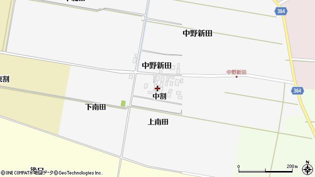 山形県酒田市中野新田中割44周辺の地図