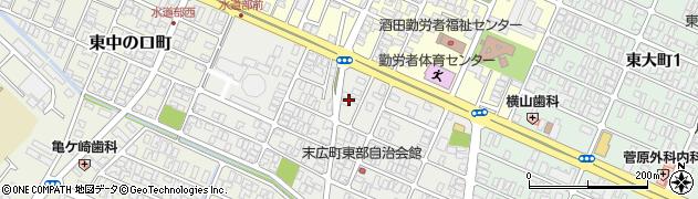 山形県酒田市末広町5周辺の地図