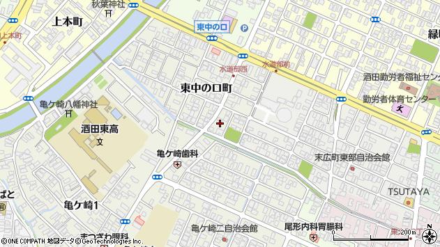 山形県酒田市東中の口町18周辺の地図