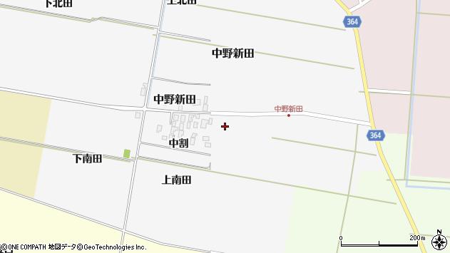 山形県酒田市中野新田中割18周辺の地図