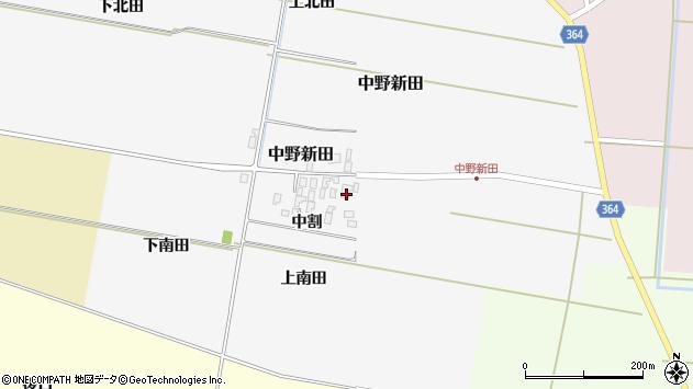 山形県酒田市中野新田周辺の地図