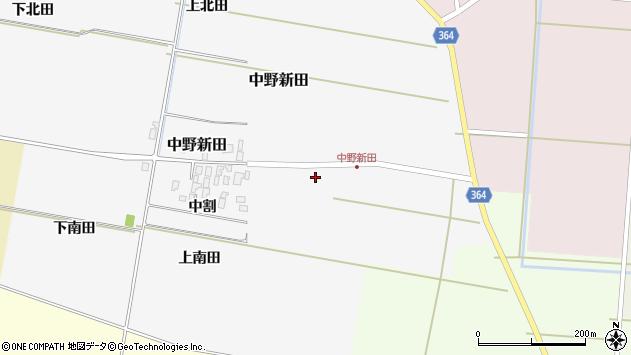 山形県酒田市中野新田中割77周辺の地図