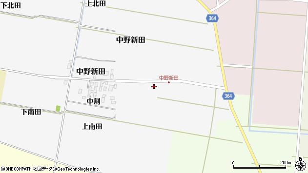 山形県酒田市中野新田中割13周辺の地図