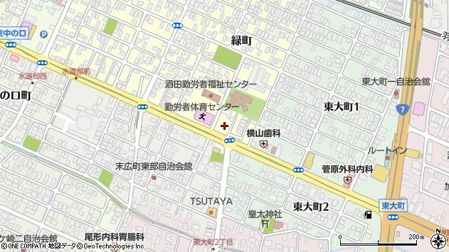 山形県酒田市緑町20周辺の地図