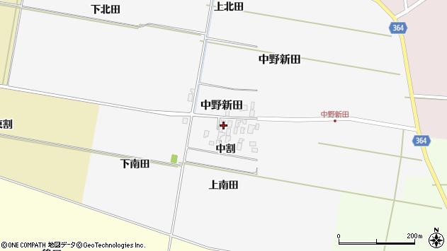 山形県酒田市中野新田中割45周辺の地図