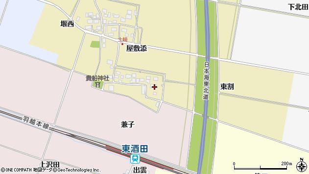 山形県酒田市土崎屋敷添6周辺の地図